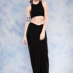 c9948b6bb04515 Dresses   Skirts - Maxi Asymmetrical Wrap Skirt And CropTop Set Dress